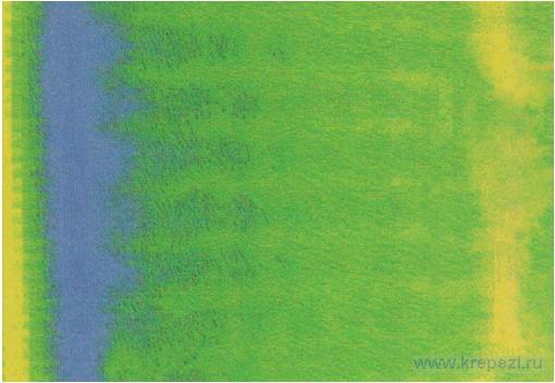 Термографическая запись дюбеля для теплоизоляции Termoz в фасадной обшивке