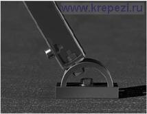 Закрепление монтажной шины к универсальному держателю