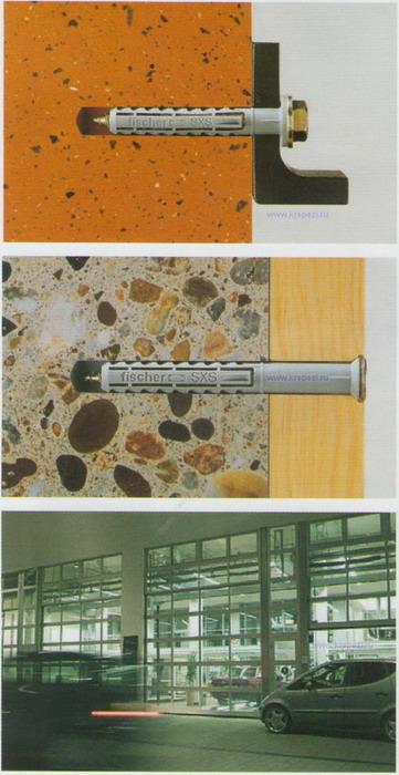 Использование рамных и фасадных дюбелей fischer