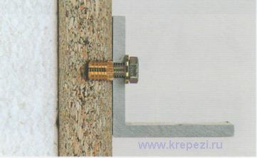 Пример крепежа с применением металлического дюбеля fischer